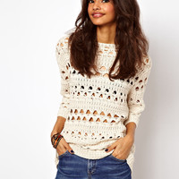 ASOS | ASOS Crochet Slouch Jumper at ASOS