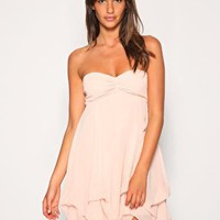ASOS Chiffon Bubble Hem Gathered Bust Dress at ASOS
