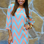 HOPE'S: Cheery For Chevron Dress: Pink | Hope's