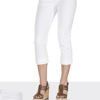 Silver Jeans Co. ® Suki White Denim Capri