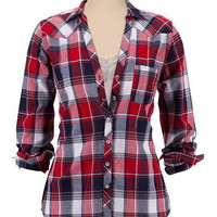 Lightweight Plaid Button Down Shirt