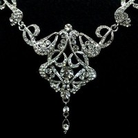 Art Deco Wedding Necklace, Swarovski Bridal Jewelry - CARMEN | yjdesign - Wedding on ArtFire