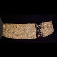 Vintage accessories-Vintage clothing-50s style cinch belt-Elastic belts