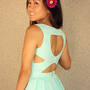 Je t&#x27;aime Heart Cutout Dress (Mint)