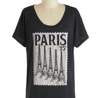 Postcard from Paris Top | Mod Retro Vintage T-Shirts | ModCloth.com