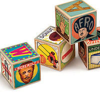 Hipster Baby Alphabet Blocks