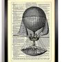 Beautiful Vintage Airship Repurposed Book Upcycled Dictionary Art Vintage Book Print Recycled Vintage Dictionary Page Buy 2 Get 1 FREE
