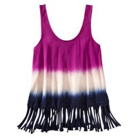 Xhilaration Juniors Scoopneck Fringe Tank - Ass... : Target