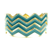 Chevron Bangles (Set of 4)