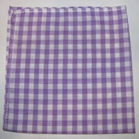 Mens Pocket Square Purple & White by natnwillies on Etsy