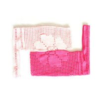 Pippi's Flower Tote, Crochet Cotton Shoulder Bag in Pastel Pink, Hot Pink, Spring, Summer, Fall, Autumn, Fashion, Beach
