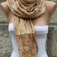 Graduation Gifts - University of California Gold - Shawl Scarf -  Cowl Scarf - fatwoman bridesmaid gift