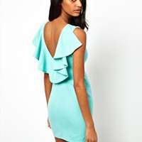 Paprika Frill Dress with Low Back at asos.com