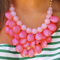 Mini Teardrops Necklace: Peach | Hope's