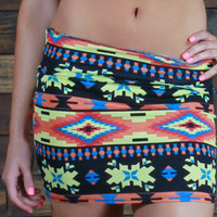 Danger Zone Tribal Mini Skirt