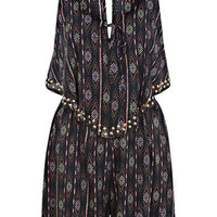 Tribal Pinted Hot Fix Playsuit