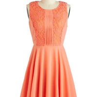Apricot Dahlia Dress | Mod Retro Vintage Dresses | ModCloth.com