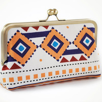 Tribal clutch with geometric shapes by sirtom on Etsy