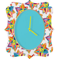 DENY Designs Home Accessories | CMYKaren Star Power Quatrefoil Clock
