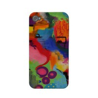 Abstract Color City iPhone 4 Case from Zazzle.com