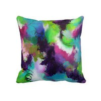 Peacock Abstract Pillow from Zazzle.com