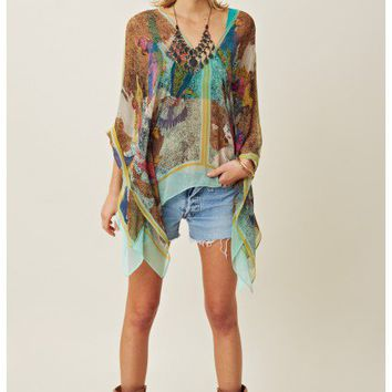 Twelfth Street Parrot Cay Caftan Blouse