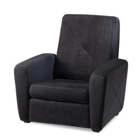 Microfiber Gaming Chair/Ottoman at Brookstone—Buy Now!