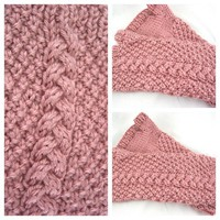 Rose Fingerless Gloves - Hand Knit