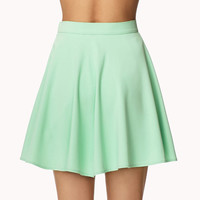 Crepe Woven Skater Skirt