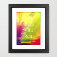 Start your day with a smile! Framed Art Print by Louise Machado