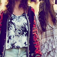 Free People FP New Romantics Carnival Baseball Jacket