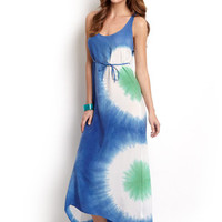 C&C CALIFORNIA Lake Multi Tie-Dye Maxi Dress