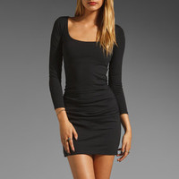 Susana Monaco Gather Sleeve Dress in Black from REVOLVEclothing.com
