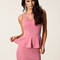 Candy Lace Peplum Dress, Club L