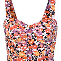 Red Floral Printed Bra Top - View All  - New In