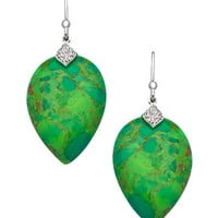 Elizabeth Showers Sterling Silver Sapphire and Green Turquoise Susanna Drop Earrings - Max & Chloe