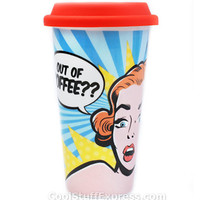 I am Not A Paper Cup Pop Art Woman