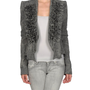 Brushed tweed ruffle jacket
