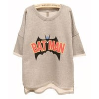 Batman Free Style Cutton Hoodie/T-shirt
