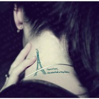 4 Pcs Love Paris Eiffel Tower Temporary Tattoo Stickers - Tattoos - Makeup - Women Free Shipping