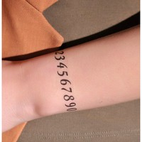 4 Pcs Arabic numerals Temporary Waterproof Tattoo Stickers - Tattoos - Makeup - Women Free Shipping