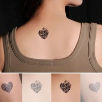 4 Pcs Heart Shaped Lollipop Non-toxic Temporary Tattoo Stickers - Tattoos - Makeup - Women Free Shipping