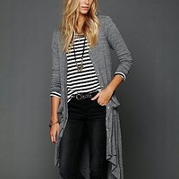 Free People Ribbed Up Maxi Cardigan