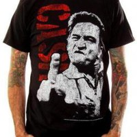 Johnny Cash, Shirt, Giving The Finger