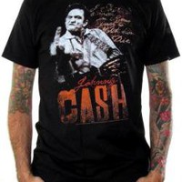 Johnny Cash, Shirt, Middle Finger