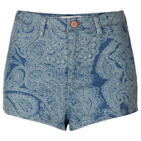 MOTO Laser Paisley Hotpants - Shorts - Clothing - Topshop