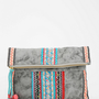 Ecote Tea Stand Embroidered Crossbody Clutch