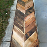 $385.00 Reclaimed Chevron herringbone pallet barnwood by triple7recycled