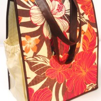 Fashion Reusable Insulated Large Shopping Beach Tote Bag -  Hawaiian Paradise