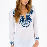 Emmy Embroidered Blouse $30